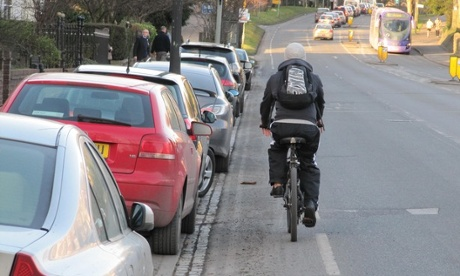 Is cycling dangerous? Cycle paths that compels you to cycle close to car doors doesn't help.