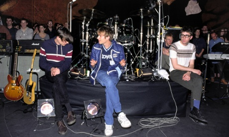 In fighting form: Blur in 1994 on Later … with Jools Holland. Photograph: Andre Csillag/Rex Features