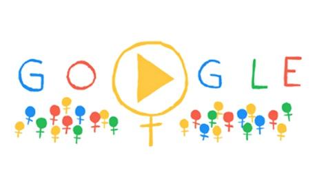 International Women's Day celebrated in Google doodle
