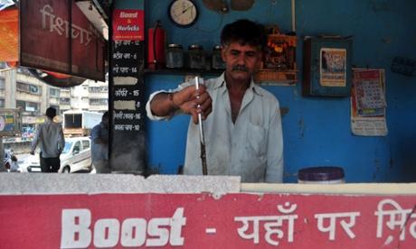 A chai stall in Dharavi, Mumbai
