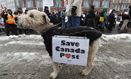 Canada Post dog protest Ottowa