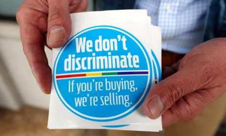 The Mississippi 'We don't discriminate' sticker.