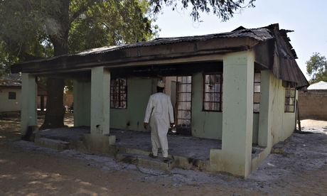 The home of a teacher which was attacked during the kidnapping, at the school in Chibok.