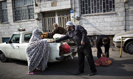 Street vendor in central Tehran
