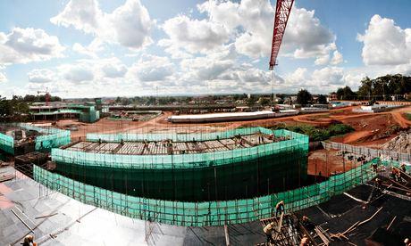 The Garden City development under construction in Nairobi, Kenya
