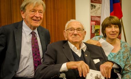Sir Nicholas Winton with Lord Alfred Dubs