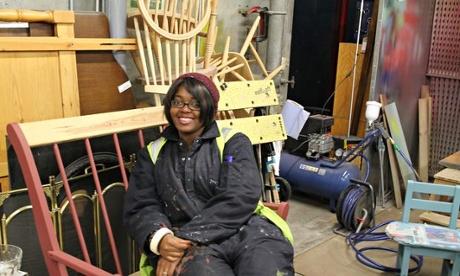 Re-use: Rebuilding respraying furniture