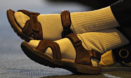 Socks on display