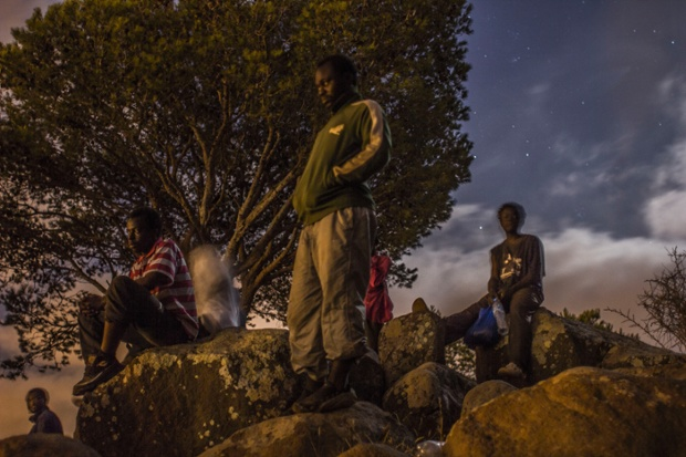 In May, several hundred African migrants charged the barbed-wire border fence, with many getting across.