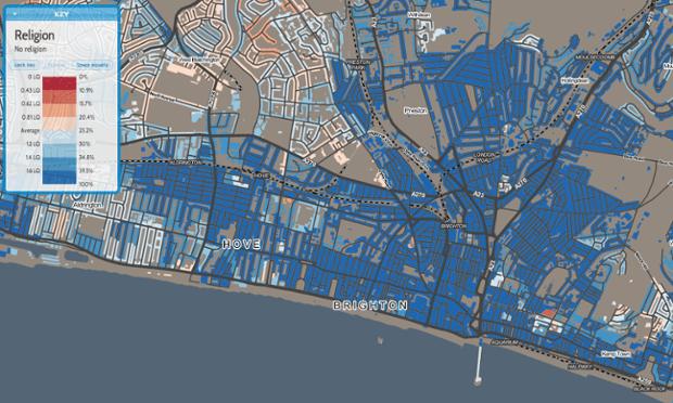 Brighton religion map