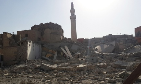 The destroyed mosque of the prophet Jirjis in Mosul on Sunday. (c) Associated Press (AP), the Guardian, 28th July 2014