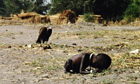 Vulture Watching Starving Child
