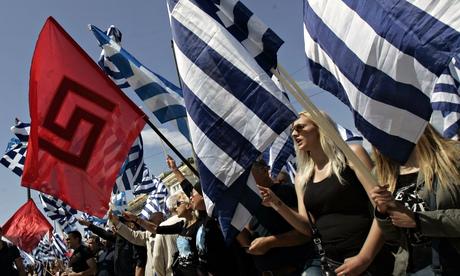'Golden Dawn' far right party in parliament, Athens, Greece - 04 Jun 2014