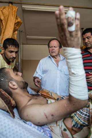 In Shifa hospital Dr John Beavis is part of a British delegation of docters who have come to help in Gaza.