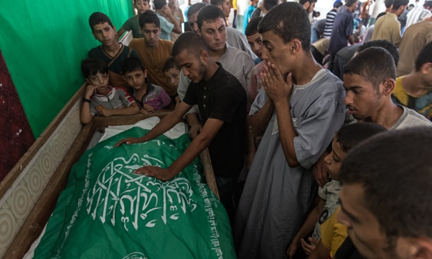 Mourners at Rahed Taysir al-Hom's funeral.