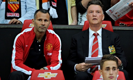 Louis van Gaal, right, was appointed Manchester United's manager in May, when he was still in charge