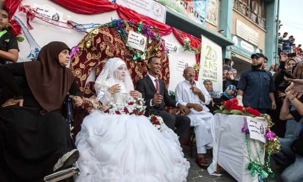 Despite the turmoil and grief, marriages still carry on in Gaza.