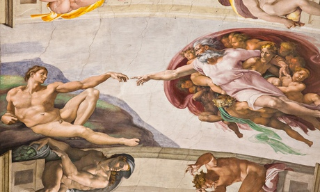 Was Michelangelo's painting of the Sistine Chapel ceiling inspired by religion, or just funded by it