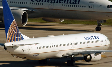 A United Airlines plane on the tarmac.