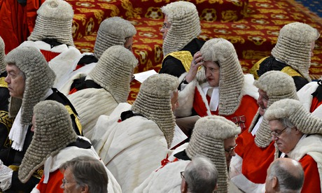 Judges sit in the House of Lords