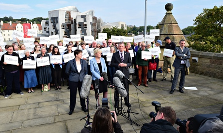 Scottish party leaders announce their backing for more powers for Scotland