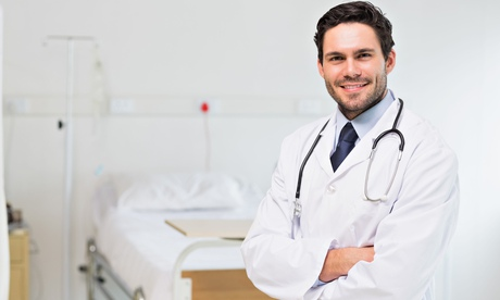 Doctor standing up