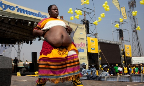 Obese Ugandan dancer Moses Kawooya