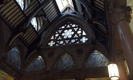 Inside Bradford Waterstones, formerly the city's Wool exchange