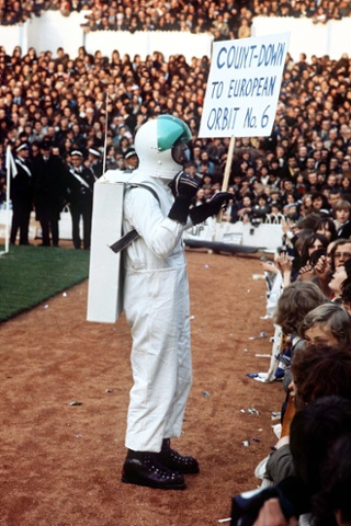 During the 1972/73 season expanded their mascot roster and for some reason had a man dressed as an astronaut parade around White Hart Lane ahead of European matches