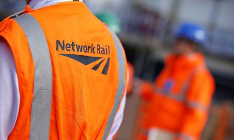 Network Rail logo on jacket