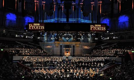 A Proms concert in progress at the Royal Albert Hall