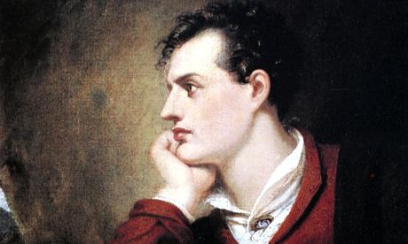 Painting of Lord George Gordon Byron (1788-1824) english poet