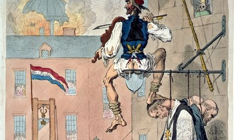 Zenith of French Glory cartoon by Gillray