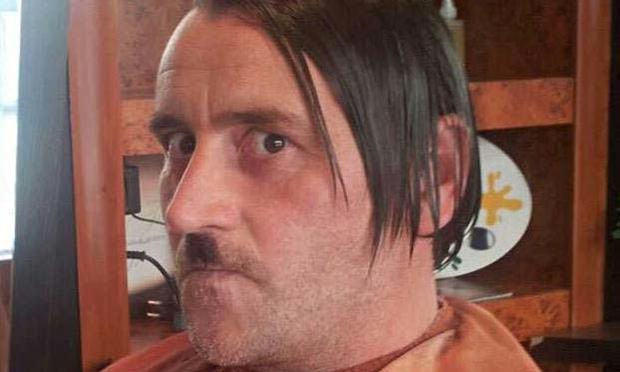 Lutz Bachmann posing as Hitler