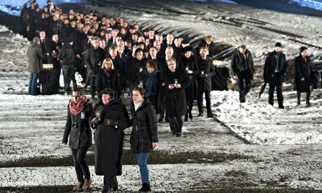 Memorial procession to mark 70th anniversary of liberation of Auschwitz