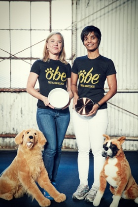 Hilary Jensen Wade and Nahid Alam of Obe.dog at TechCrunch Disrupt.