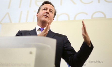 Prime Minister David Cameron speaking at the Relationships Alliance Summit 2014 at the Royal College of GP's in central London