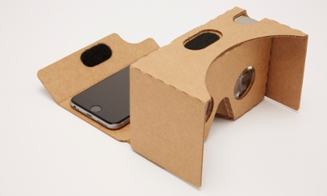 """Cardboard"" is a cheap holder that turns your smartphone into a virtual-reality headset."