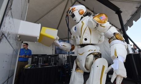 'Valkyrie', the well-endowed humanoid robot designed by NASA.