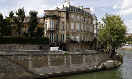 Hotel Lambert, located on the Ile de Saint-Louis in Paris