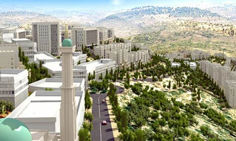 Architect's image of the city Rawabi, being built north of Ramallah