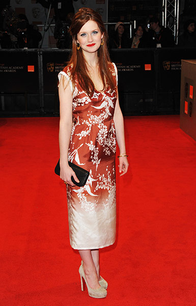 Bafta fashion : Bonnie Wright at the Baftas