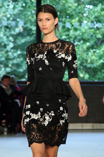 Tuesday at LFW: A model wears Erdem