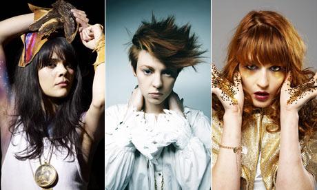 Mercury prize 2009 nominees ... Bat for Lashes, La Roux, Florence and the Machine. Photograph: PR
