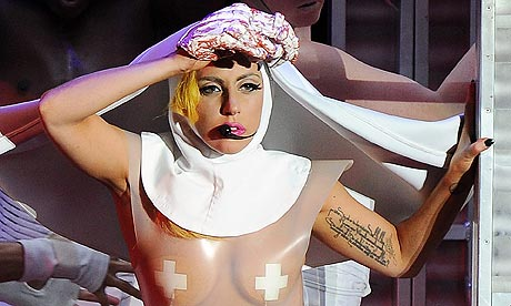Lady Gaga performs in Milan