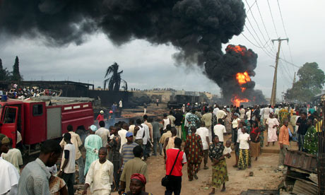 Burning pipeline, Lagos