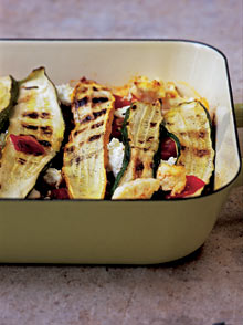 Courgette, tomato and ricotta bake