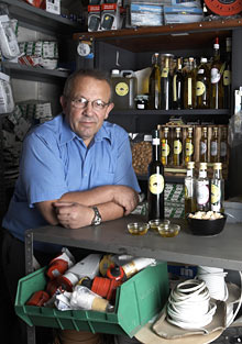 Mehmet Murat in his electrical shop
