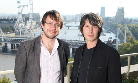Jeff Forshaw, left, and Brian Cox physicists