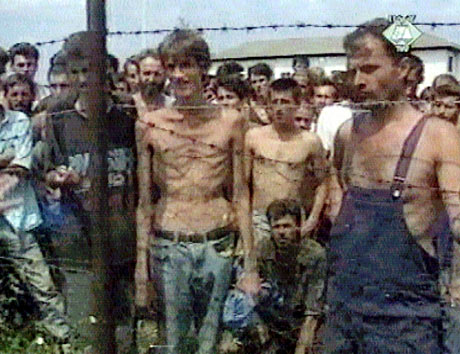 karadzic trial Bosnian prisoners at Trnopolje camp